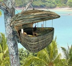 A dining pod up in a tree in Thailand