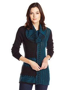 Colour Works Women's Long Sleeve Cowl Neck Pullover Sweater in Teal - http://www.womansindex.com/colour-works-womens-long-sleeve-cowl-neck-pullover-sweater-in-teal/