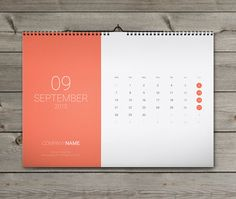 12 Sheets Monthly Wall Calendar 2015 Template W15 on Behance