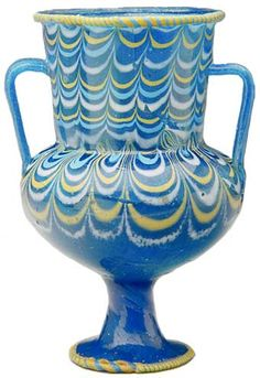 Ancient egyptian glass,   glass vase