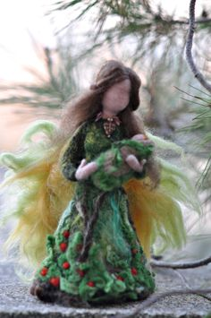 Needle felted Waldorf doll. Forest Fairy .Made to by darialvovsky