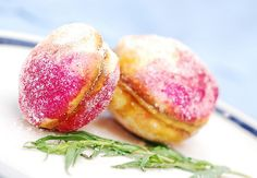 Peach shaped cookies with dulce de leche filling | by JuliasAlbum.com