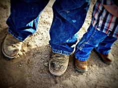 So many things a picture can say....father & son, working the land, child labor, outdoor adventure.