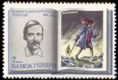 Literary Stamps: Stevenson, Robert Louis (1850-1894)