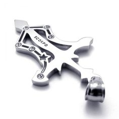 Titanium Scorpo Pendant with Rhinestones 21171