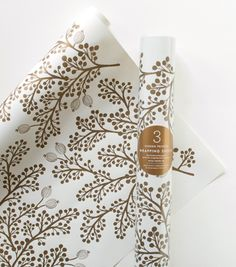 Screen Printed Golden Berries Wrapping Sheets