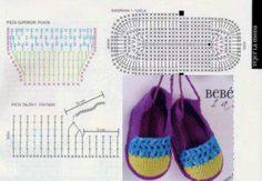 Bebê Meninas Crochetar sapatas com flores - Chinelos margarida para princesinhas.  /    Baby Girls Crochet Shoes with Flowers - Daisy Slippers for little Princesses.