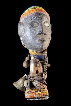 Africa | Musical Instrument ~ 'Imborivungu' Owl Ritual Flute from the Tiv people of Nigeria | ca. 1960