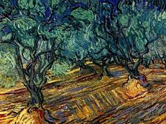 """Olive Grove: Bright Blue Sky""....""Vincent van Gogh Painting, Oil on Canvas Saint-Rémy: June, 1889......Van Gogh Museum Amsterdam, The Netherlands, Europe."