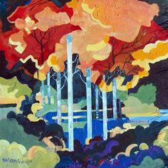 "Saatchi Online Artist Micheal Jones; Painting, ""Aspens #1"" #art"