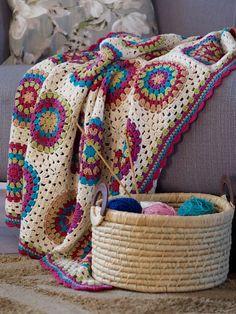 Lovely granny square blanket