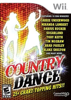 Country Dance w/ Manual NINTENDO WII 25 hit songs artists musicians moves game! Country Line Dancing, Country Music, Wii Games, Brad Paisley, Game Sales, Tim Mcgraw, Simulation Games, First Game, Just Dance