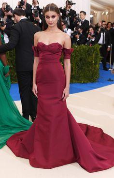 TAYLOR HILL in Carolina Herrera from 2017 Met Gala: Red Carpet Arrivals