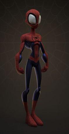 Toon Spiderman, William Vaughan on ArtStation at https://www.artstation.com/artwork/v4w0D