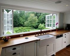 Ways to Give Your Kitchen a Deep Clean When I move to the country, I'm incorporating these windows into my dream home design.When I move to the country, I'm incorporating these windows into my dream home design. New Kitchen, Kitchen Decor, Awesome Kitchen, Kitchen Ideas, Eclectic Kitchen, Kitchen Layout, Kitchen Country, Awesome House, Kitchen Interior
