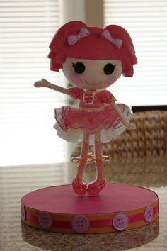 Lalaloopsy party centrepiece--one of the dolls, of course!