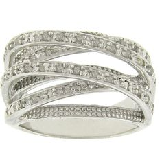 Give great style at a great price with this multi-band diamond ring. It's the perfect gift for that special someone.