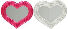 Turn your little girl's room into one that's fit for a princess with a silver or pink heart-shaped mirror. Bedtime Routine, Little Girls, Mirror, Princess, Heart, Fit, Silver, Room, Bedroom