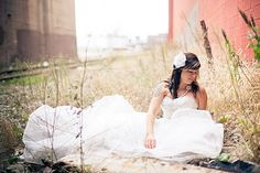 """Stunning photo shoot with a """"trash the dress"""" concept- love it! Get some AMAZING shots of you in your wedding dress- AFTER the big day!"""