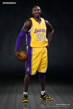 Enterbay Reveals Kobe Bryant Collectible Figure - The Toyark - News Sports Basketball, Basketball Players, Nba Action Figures, Gail Goodrich, James Worthy, Kobe Bryant 8, Kobe Mamba, Kobe Bryant Black Mamba, Shaquille O'neal