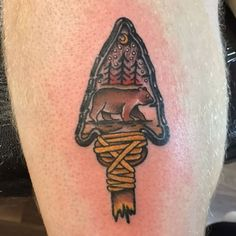 @ricardoshotthis also knows a good design when he sees one! Original design by me, coloured and tattooed by @richardlazenby at @truetildeathtattoo.  #bear #arrowhead #tattoo #tattooed #illustration #design #graphicdesign #sketch #art #artist #draw #drawing #wildlife #outdoors #camping #camp #muskoka