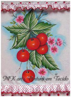 Pintei umas frutas com riscos que encontrei no facebook, postado na página de Arts'anália. É uma página maravilhosa, que contém muitos r... Brother Innovis, Fabric Painting, Embroidery, Flowers, Paint For Kitchen, God Pictures, Ribbon Flower Tutorial, Christmas Fabric, Drawing Drawing