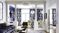 Designer Crush: @catherine gruntman Wong // living rooms, dining rooms, blue rooms