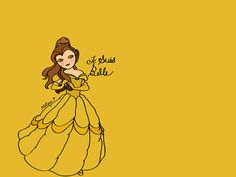Belle. #Disney #Princess #Illustrations