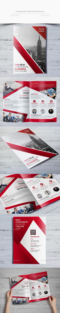 Corporate Bifold Brochure Template PSD #design Download: http://graphicriver.net/item/corporate-bifold-brochure/13865271?ref=ksioks