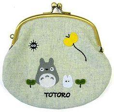 Gamaguchi Purse - Apprique - Totoro & Sho Totoro & Kurosuke - Sun Arrow - Ghibli - 2012 (new)