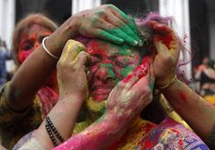 Indians across the country usher in spring with the eye-popping, colorfully chaotic festival of Holi, celebrating the victory of good over evil and devotion to the Hindu god Lord Vishnu.