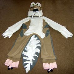 Ready 2 Ship Unique One Of A Kind Kids Scratt Scrat Prehistoric Squirell Ice Age Halloween Costume. $125.00, via Etsy.