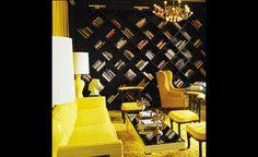 Library. Viceroy Santa Monica Hotel. Designer: Kelly Wearstler.