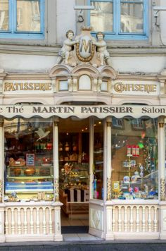 ♔ Martin Pâtisserie ~ Morlaix ~ Finistère ~ France, I need to live in this neighborhood! Love this place! Vans Oldschool, Boutiques, Shop Facade, William Adolphe Bouguereau, Belle Villa, I Love Paris, Shop Fronts, Shop Around, Cafe Restaurant