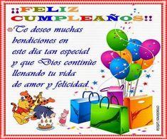 feliz cumpelaños - Buscar con Google Spanish Birthday Wishes, Birthday Wishes And Images, Birthday Wishes Quotes, Happy Birthday Messages, Birthday Pictures, Birthday Greetings, Birthday Words, Spanish Lesson Plans, Happy B Day