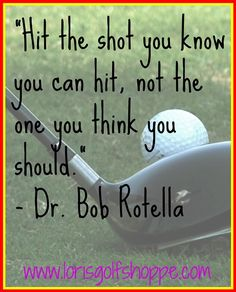 Useful thought when golfing and straight to the point! #golf #golfquotes