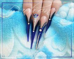 blue again by Darhon - Nail Art Gallery nailartgallery.nailsmag.com by Nails Magazine www.nailsmag.com #nailart. DARHON rocks