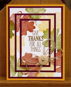 Triple Time For All Things by NaomiW - Cards and Paper Crafts at Splitcoaststampers