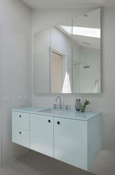 holes for handles Gable House Bad Inspiration, Bathroom Inspiration, Bathroom Ideas, Clare Cousins, College Bathroom, Gable House, House Goals, Beautiful Space, Modern Bathroom