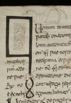 Initial letter Q: St. Gallen, Stiftsbibliothek, Cod. Sang. 904: Prisciani grammatica (http://www.e-codices.unifr.ch/en/list/one/csg/0904)