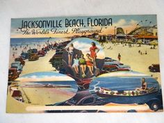 Vintage Florida Jacksonville Beach Postcard on Etsy, $7.00