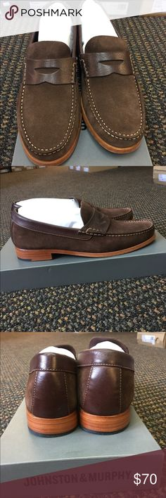 Johnston & Murphy Danbury Brown Suede Penny Loafer Johnston & Murphy Danbury Brown Suede Penny Loafer Johnston & Murphy Shoes Loafers & Slip-Ons