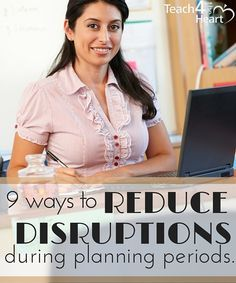 Great ways for teachers to reduce distractions during their planning times.