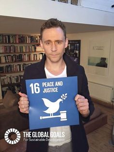 Tom Hiddleston: The Global Goals is a plan that has the chance to end extreme poverty, fight inequality and tackle climate change. I'm most passionate about ‪#‎Goal16‬, which goal do you care about most? Choose your goal and to help us tell everyone about the ‪#‎GlobalGoals‬ http://wethepeople.globalgoals.org
