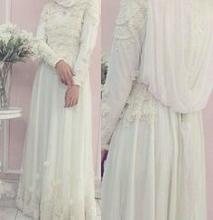 Muslimah Wedding Dress, Modest Wedding Gowns, White Wedding Dresses, Bridal Hijab, Hijab Bride, Muslim Brides, Muslim Women, Hijab Dress Party, Modest Fashion Hijab