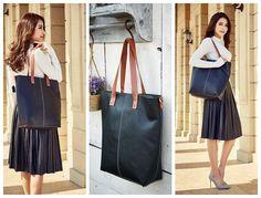 Handmade Leather Women's Fashion Shoulder Bag Messenger Bag Tote Bag Shopping Bag 15002 - LISABAG