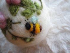 Easter EggNeedle felted eggSpring OrnamentFelt by Crafts2Cherish