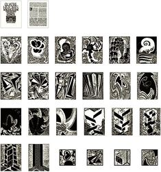 Artwork by František Kupka, 25 WORKS: QUATRE HISTOIRES DE BLANC ET NOIR, Made of Woodcut on handmade paper