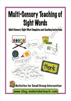 Multi-Sensory Teaching of Sight Words product from Make-Take-Teach on TeachersNotebook.com