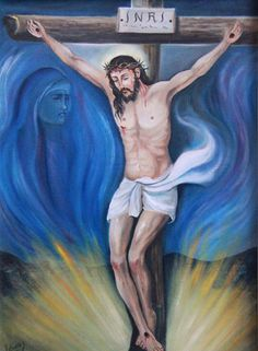 Título: Cristo en la Cruz.Autor :Edmundo Alvarez. Impresiones en canvas firmadas por el autor y numeradas. Medidas:  Pregunta por el precio.